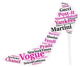 Griffes di moda: Versace, Gucci, Manolo Blahnik, Chanel, Fendi