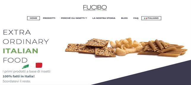 Homapage del sito di Fucibo