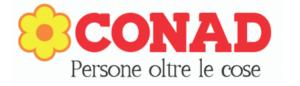 """logo di Conad """"persone oltre le cose"""""""