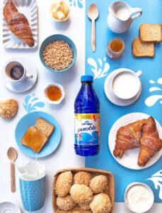 Prima colazione con latte Parmalat Puroblu