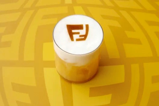 Caffè di Fendi con logo stampato