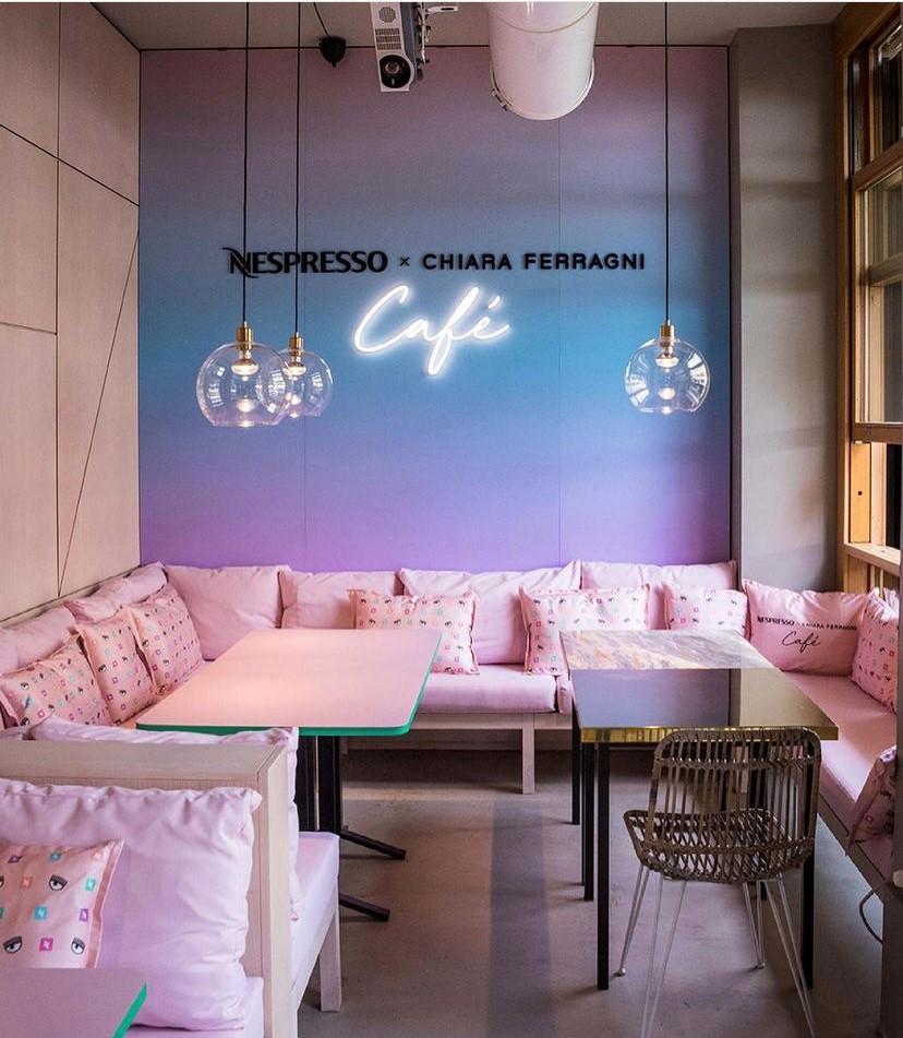 Temporary shop di Nespresso per Chiara Ferragni