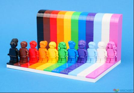 Lego arcobaleno